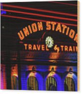 Union Station Lights Wood Print