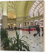 Union Station Main Hall And Waiting Room Wood Print