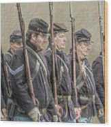 Union Veteran Soldiers Parade  Wood Print