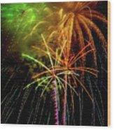Unique Fireworks Wood Print