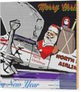 Unique Greets Original Holiday Greeting Card  Wood Print