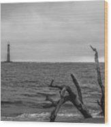 Unique Morris Island View Wood Print