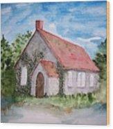 Unitarian Church Wood Print