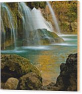 Unite Perspective of Turner Falls Wood Print
