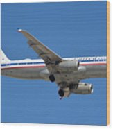 United Airlines Airbus A320 Friend Ship N475ua Sky Harbor March 24 2015 Wood Print