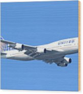 United Airlines Boeing 747 . 7d7850 Wood Print by Wingsdomain Art and Photography