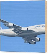 United Airlines Boeing 747 . 7d7852 Wood Print