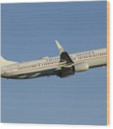 United Boeing 737-924 N75436 Retro Continental Phoenix Sky Harbor December 9 2015 Wood Print