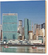 United Nations Building Wood Print