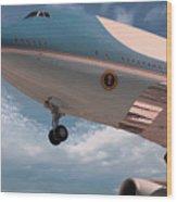 United States Air Force One Wood Print