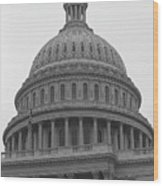 United States Capitol Building 3 Bw Wood Print