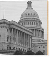 United States Capitol Building 4 Bw Wood Print