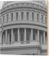 United States Capitol Building Bw Wood Print