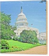 United States Capitol - Washington Dc Wood Print