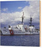 United States Coast Guard Cutter Rush Wood Print by Michael Wood