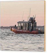 United States Coast Guard Heading Out Wood Print