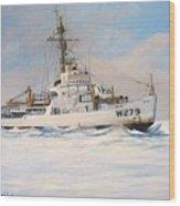 United States Coast Guard Icebreaker Eastwind Wood Print