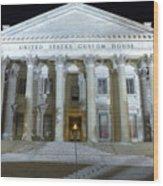 United States Custom House Wood Print