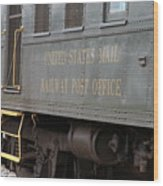 United States Mail Railway Post Office Box Car Wood Print