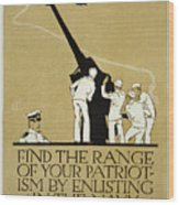 United States Navy Recruitment Poster From 1918 Wood Print