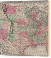 United States Of America Wood Print