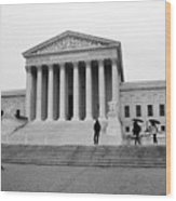 United States Supreme Court Building Bw Wood Print