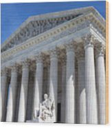 United States Supreme Court Building Wood Print