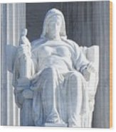 United States Supreme Court, The Contemplation Of Justice Statue, Washington, Dc 2 Wood Print