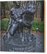 United States War Dog Memorial Wood Print