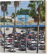 Universal Florida Parking Entrance Wood Print