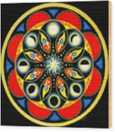 Universal Light  Mandala Wood Print by Pam Ellis