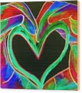 Universal Sign For Love Wood Print