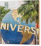 Universal Studio Globe Wood Print