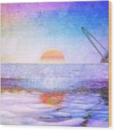 Universal Sunset Wood Print