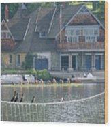 University Barge Club - Philadelphia  Wood Print
