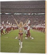 University Of Alabamas Marching Band Wood Print by Everett
