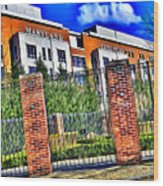 University Of Maryland - Byrd Stadium Wood Print