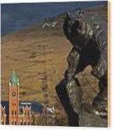 University Of Montana Icons Wood Print by Katie LaSalle-Lowery