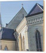 University Of Notre Dame Basilica  Wood Print