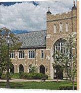 University Of Notre Dame Law School Wood Print