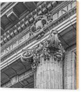 University Of Pennsylvania Column Detail Wood Print