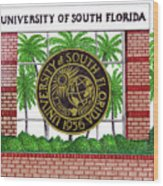 University Of South Florida Wood Print by Frederic Kohli