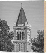 University Of Southern California Clock Tower Wood Print by University Icons