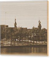 University Of Tampa - Old Postcard Framing Wood Print