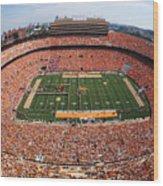 University Of Tennessee Neyland Stadium Wood Print by University of Tennessee Athletics