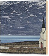 Unjarga-nesseby Church In Arctic Norway Wood Print