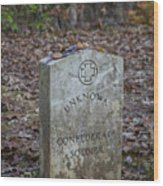 Unknown Confederate Soldier - Natchez Trace Wood Print