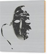 Unmasking In Silence Wood Print
