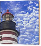 Unmistakable In Any Weather - West Quoddy Head Lighthouse Wood Print