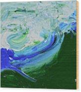 Unrestful Sea Wood Print